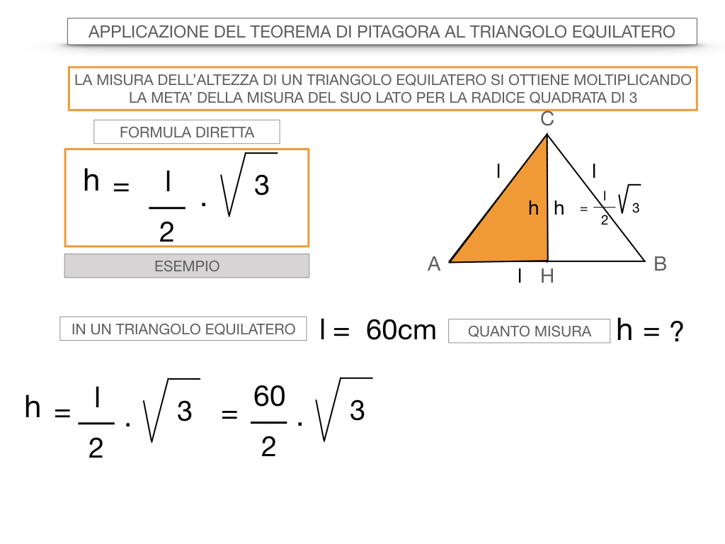 19. APPLICAZIONE DEL TEOREMA DI PITAGORA AL TRIANGOLO EQUILATERO_SIMULAZIONE.052