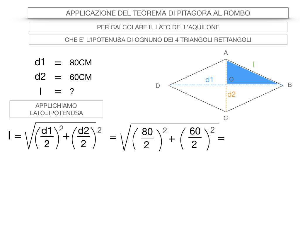20. APPLICAZIONE DEL TEOREMA DI PITAGORA AL ROMBO_SIMULAZIONE.051