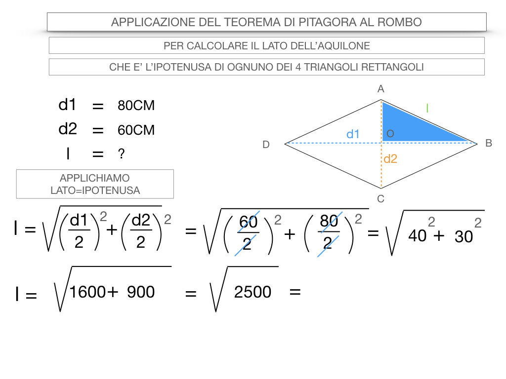 20. APPLICAZIONE DEL TEOREMA DI PITAGORA AL ROMBO_SIMULAZIONE.057