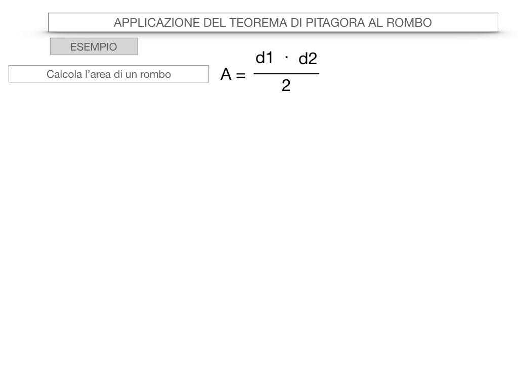 20. APPLICAZIONE DEL TEOREMA DI PITAGORA AL ROMBO_SIMULAZIONE.061