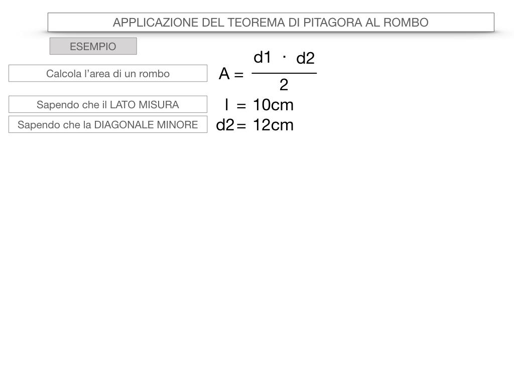 20. APPLICAZIONE DEL TEOREMA DI PITAGORA AL ROMBO_SIMULAZIONE.063