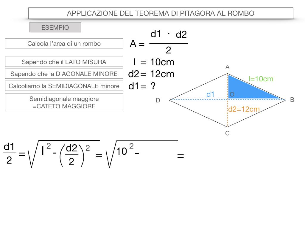 20. APPLICAZIONE DEL TEOREMA DI PITAGORA AL ROMBO_SIMULAZIONE.069