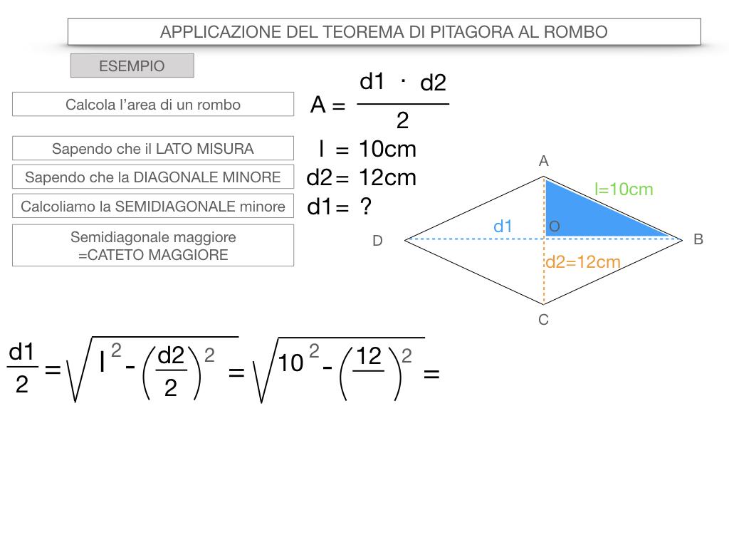 20. APPLICAZIONE DEL TEOREMA DI PITAGORA AL ROMBO_SIMULAZIONE.070