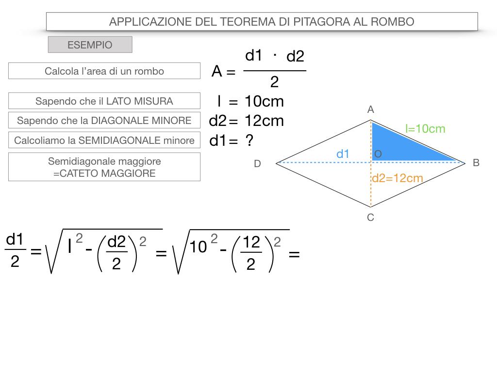 20. APPLICAZIONE DEL TEOREMA DI PITAGORA AL ROMBO_SIMULAZIONE.071