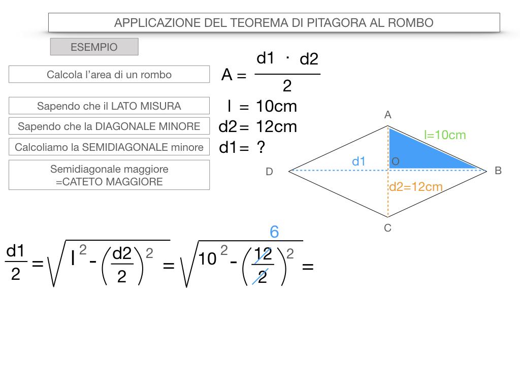 20. APPLICAZIONE DEL TEOREMA DI PITAGORA AL ROMBO_SIMULAZIONE.072