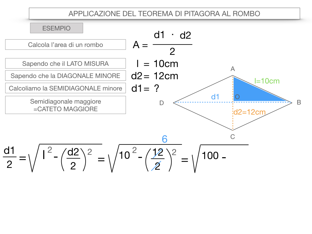 20. APPLICAZIONE DEL TEOREMA DI PITAGORA AL ROMBO_SIMULAZIONE.073