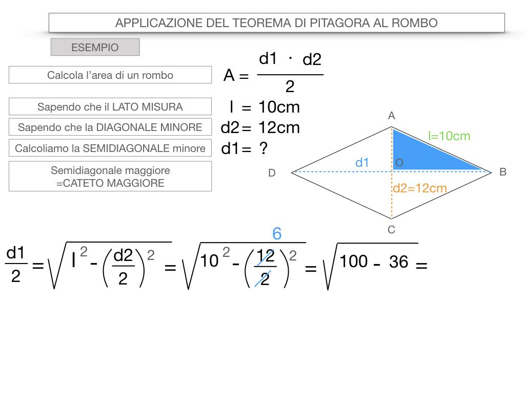 20. APPLICAZIONE DEL TEOREMA DI PITAGORA AL ROMBO_SIMULAZIONE.074