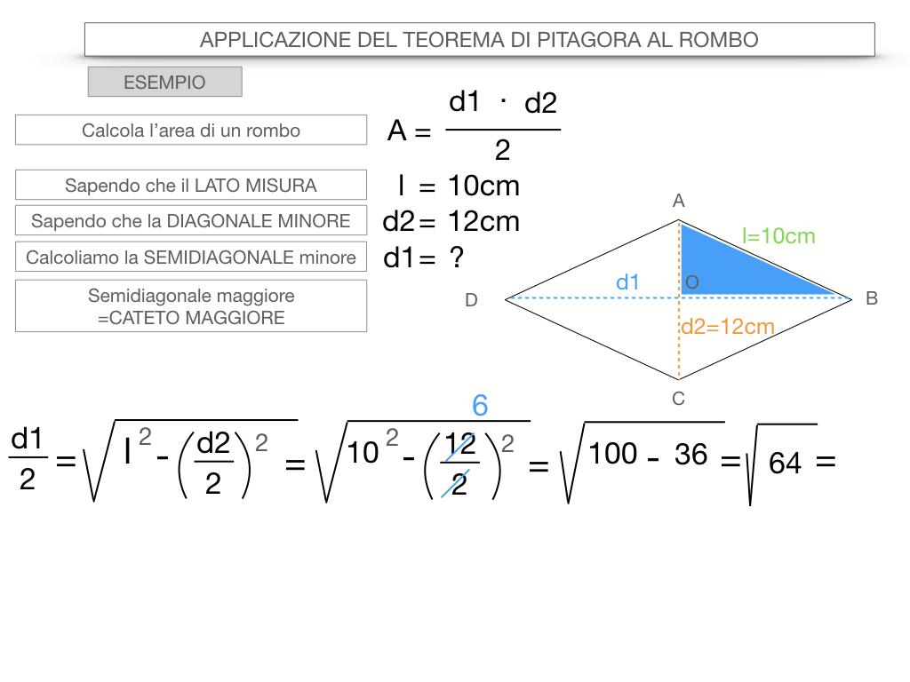 20. APPLICAZIONE DEL TEOREMA DI PITAGORA AL ROMBO_SIMULAZIONE.075