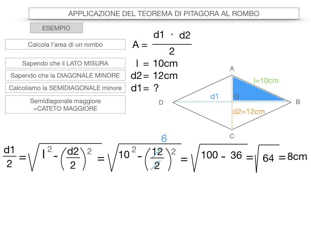 20. APPLICAZIONE DEL TEOREMA DI PITAGORA AL ROMBO_SIMULAZIONE.076