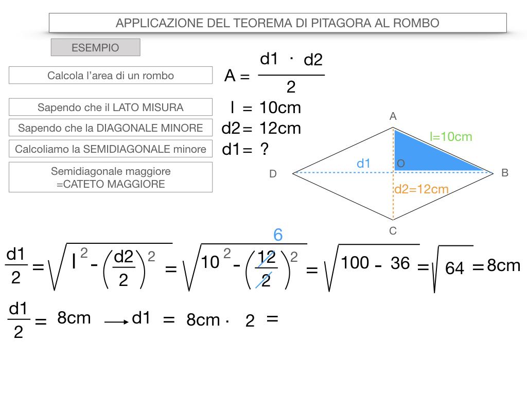 20. APPLICAZIONE DEL TEOREMA DI PITAGORA AL ROMBO_SIMULAZIONE.079