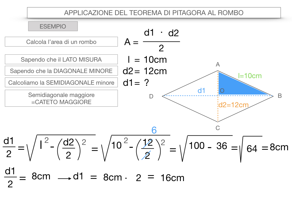 20. APPLICAZIONE DEL TEOREMA DI PITAGORA AL ROMBO_SIMULAZIONE.080