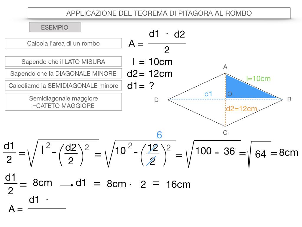 20. APPLICAZIONE DEL TEOREMA DI PITAGORA AL ROMBO_SIMULAZIONE.082