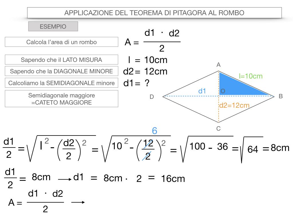 20. APPLICAZIONE DEL TEOREMA DI PITAGORA AL ROMBO_SIMULAZIONE.084