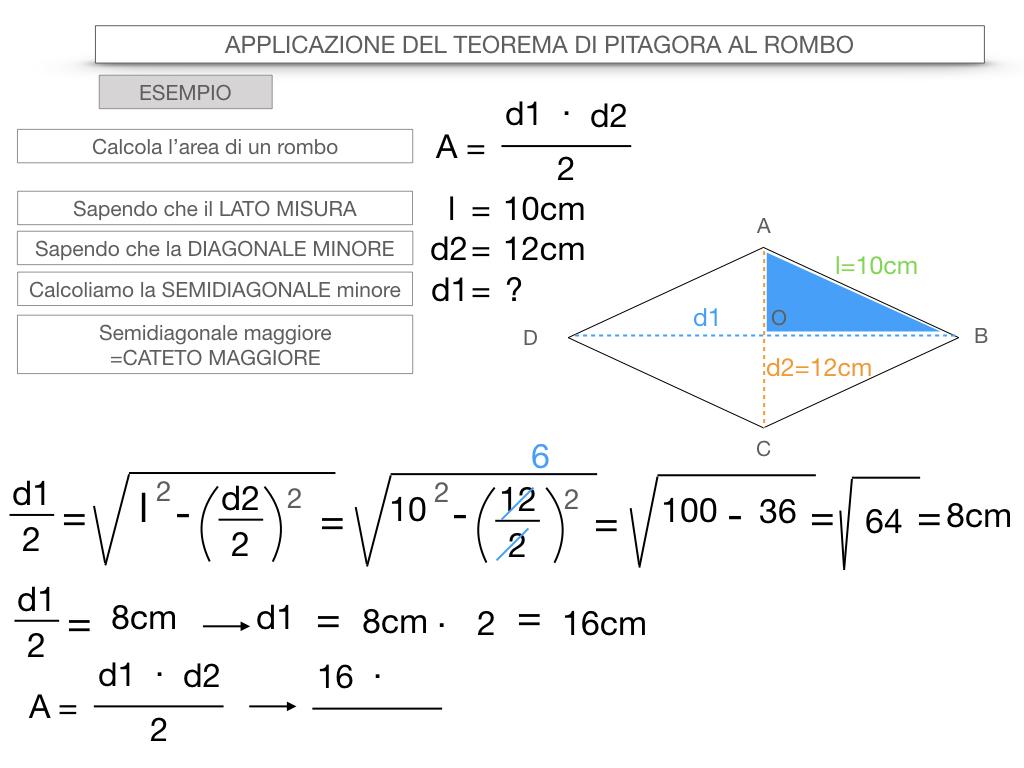 20. APPLICAZIONE DEL TEOREMA DI PITAGORA AL ROMBO_SIMULAZIONE.085