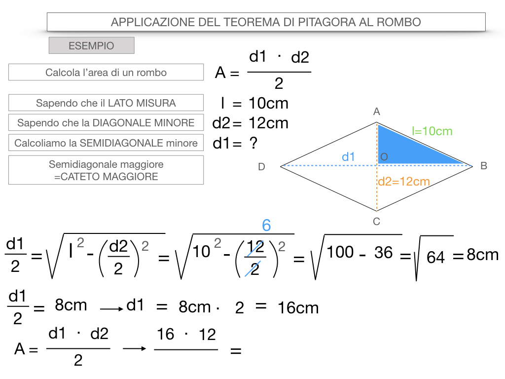 20. APPLICAZIONE DEL TEOREMA DI PITAGORA AL ROMBO_SIMULAZIONE.086