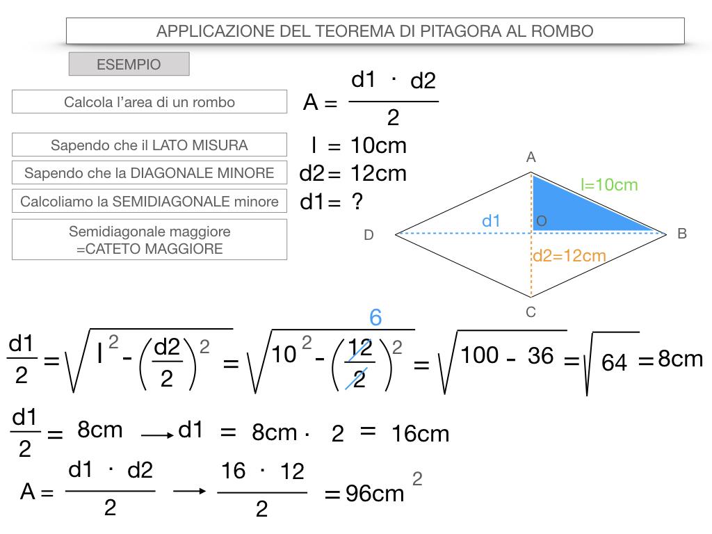 20. APPLICAZIONE DEL TEOREMA DI PITAGORA AL ROMBO_SIMULAZIONE.088