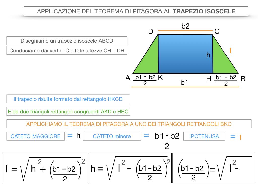 22. APPLICAZIONE DEL TEOREMA DI PITAGORA AL TRAPEZIO ISOSCELE_SIMULAZIONE.022