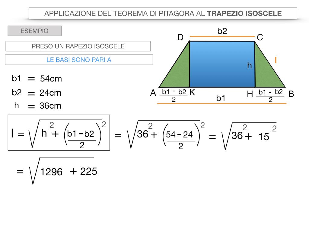 22. APPLICAZIONE DEL TEOREMA DI PITAGORA AL TRAPEZIO ISOSCELE_SIMULAZIONE.041