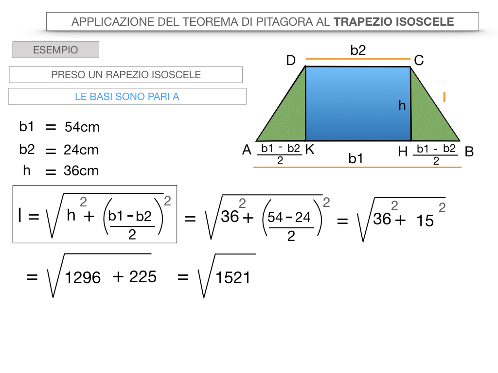 22. APPLICAZIONE DEL TEOREMA DI PITAGORA AL TRAPEZIO ISOSCELE_SIMULAZIONE.042