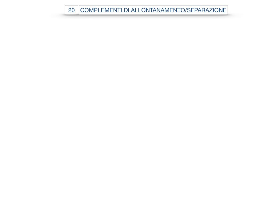 30. COMPLEMENTO DI MOTO PER LUOGO COMPLEMENTO DI ORIGINE O PROVENIENZA COMPLEMENTO DI ALLONTANAMENTO O SEPARAZIONE_SIMULAZIONE.177